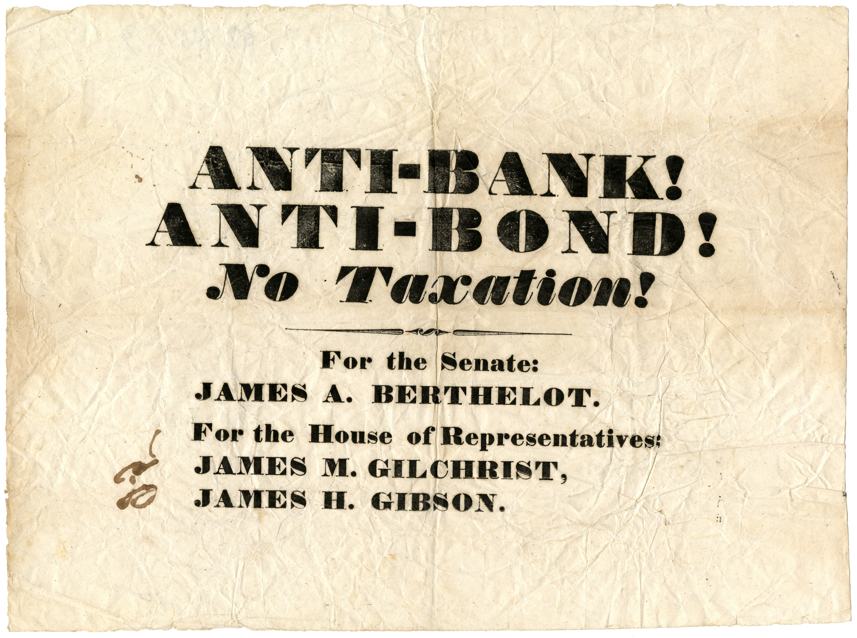Anti-bank!, anti-bond!, no taxation!