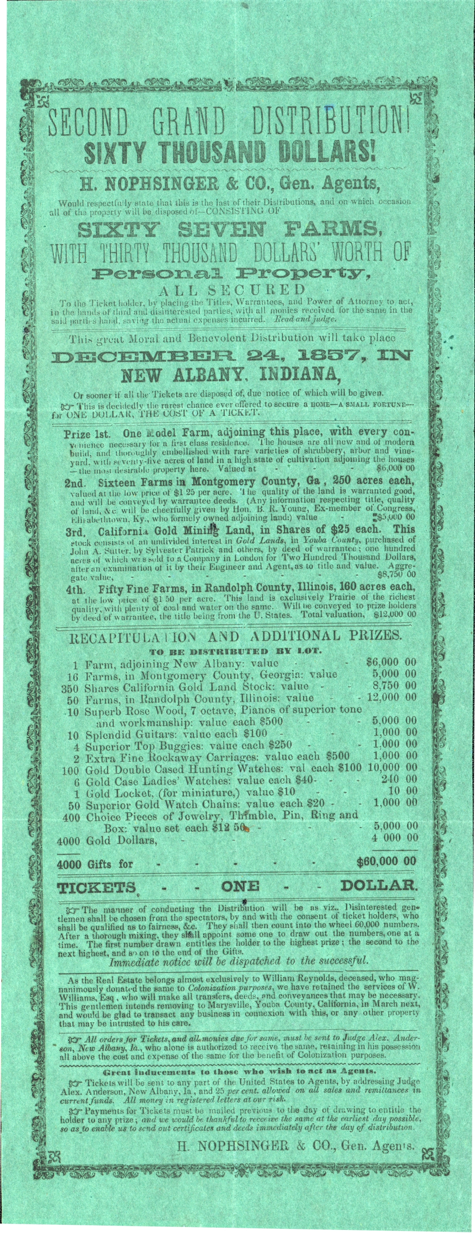 H. Nophsinger & Co., (General Agents) papers.