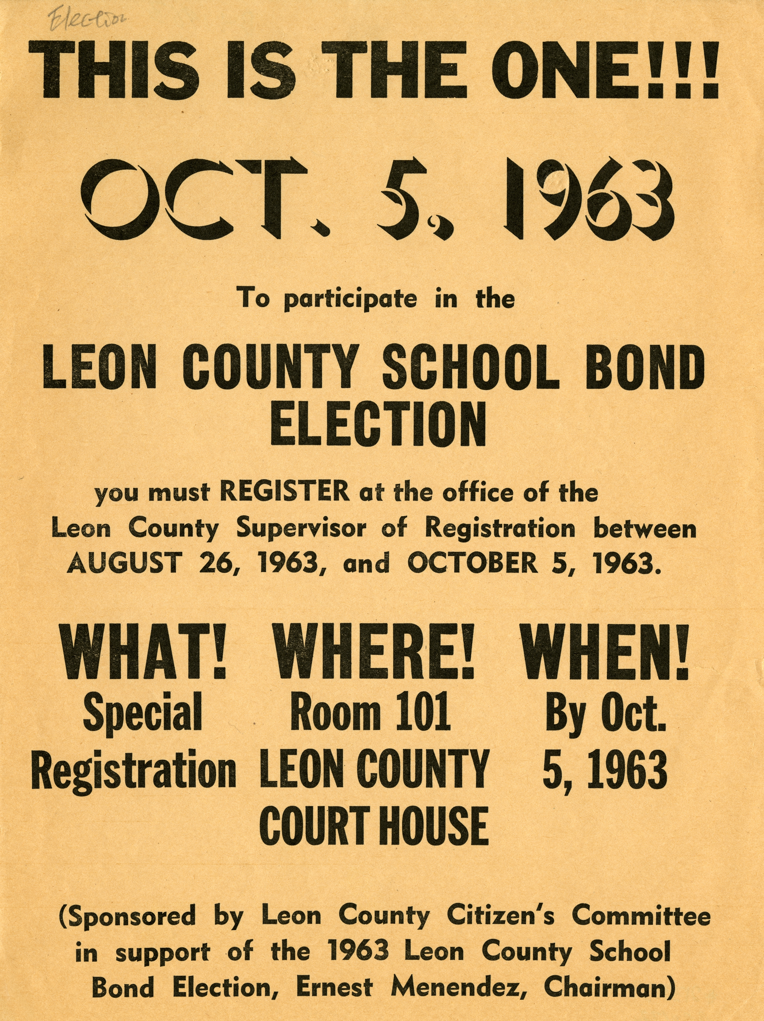This is the one ... Leon County school bond election.