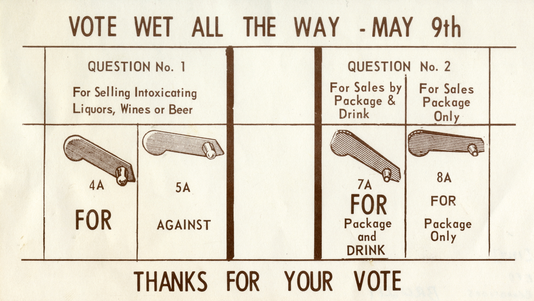 Vote wet all the way - May 9th