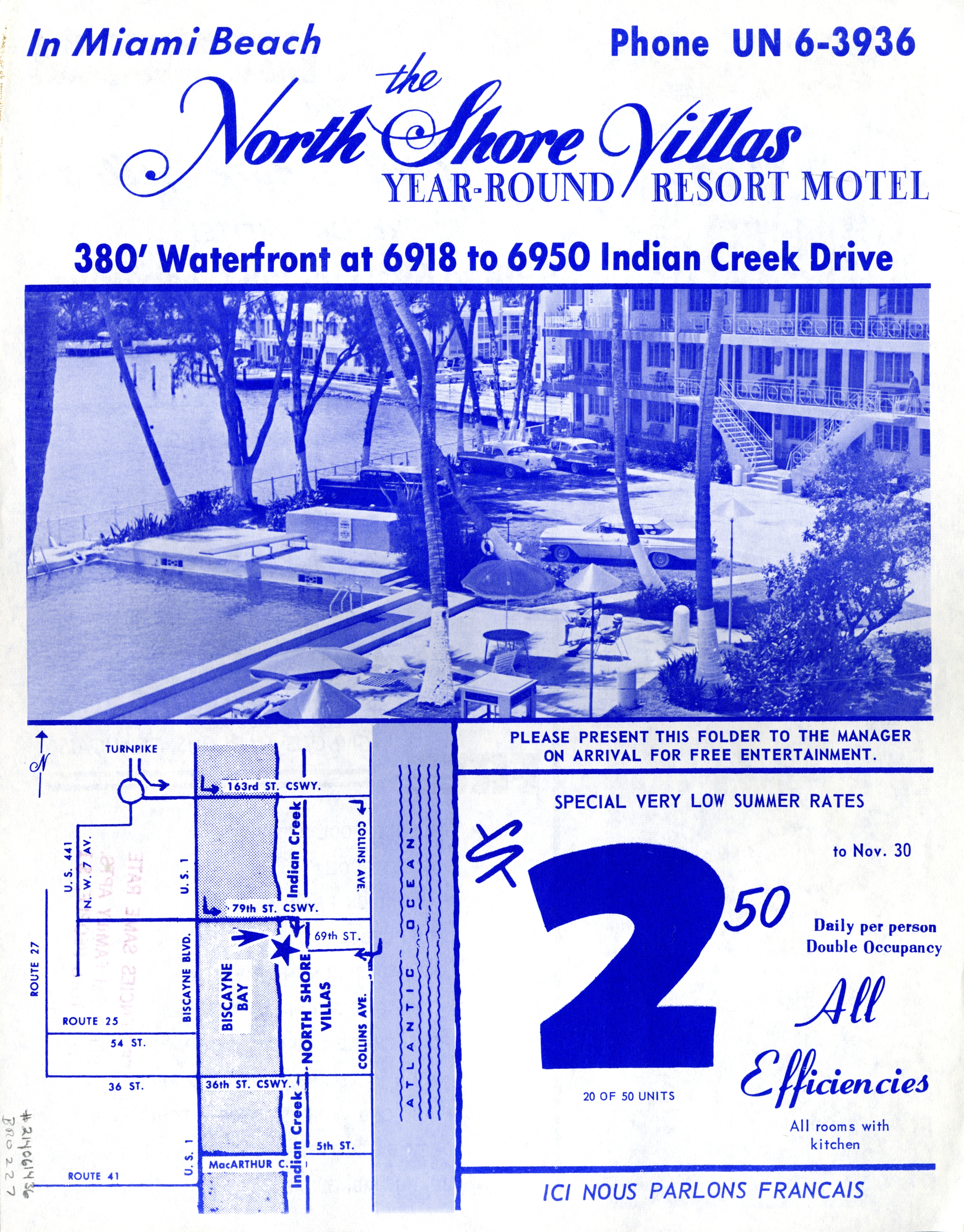 North Shore Villas Motel, Miami Beach, Florida.