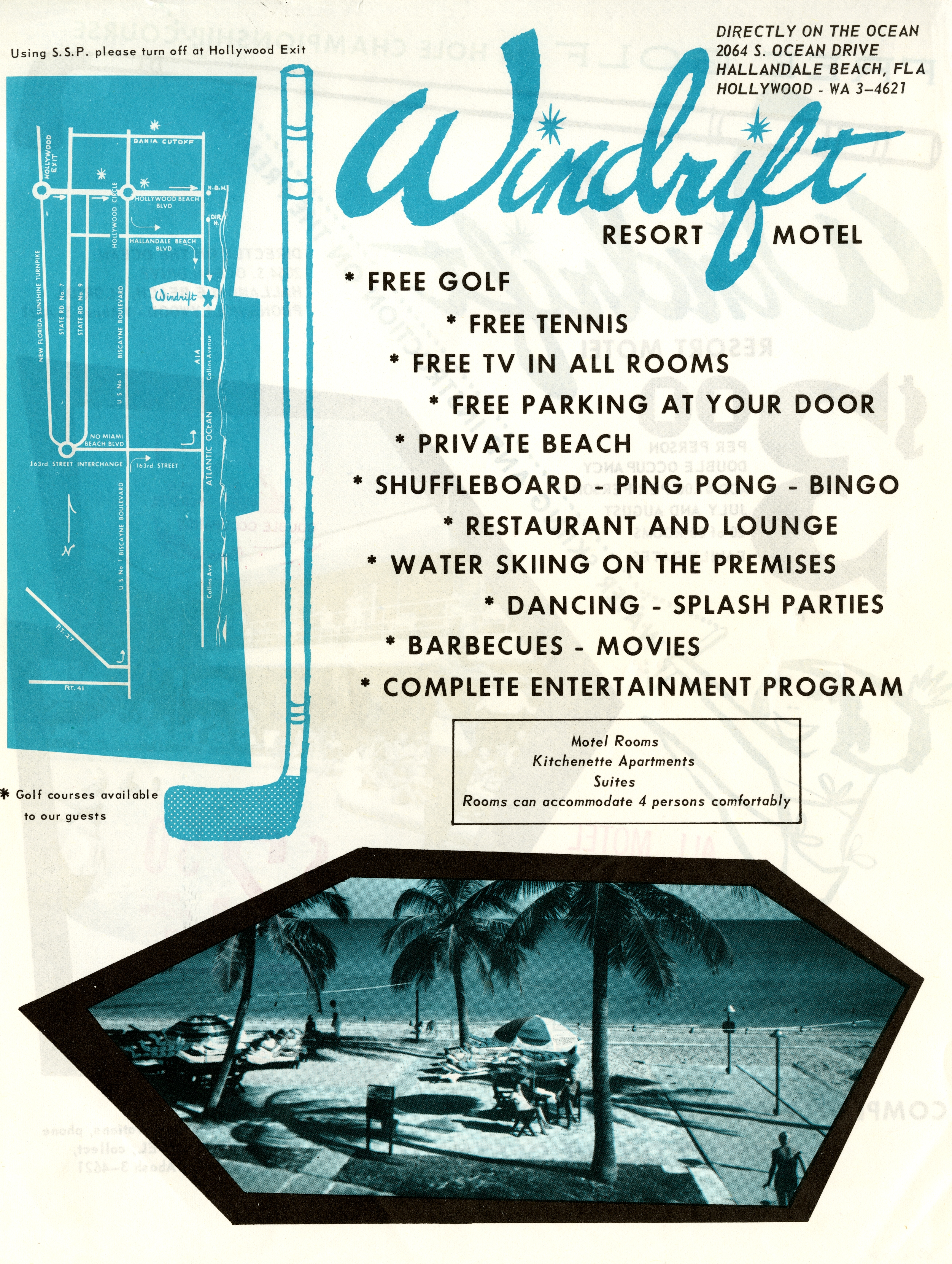 Windrift Resort Motel, Miami Beach, Florida.