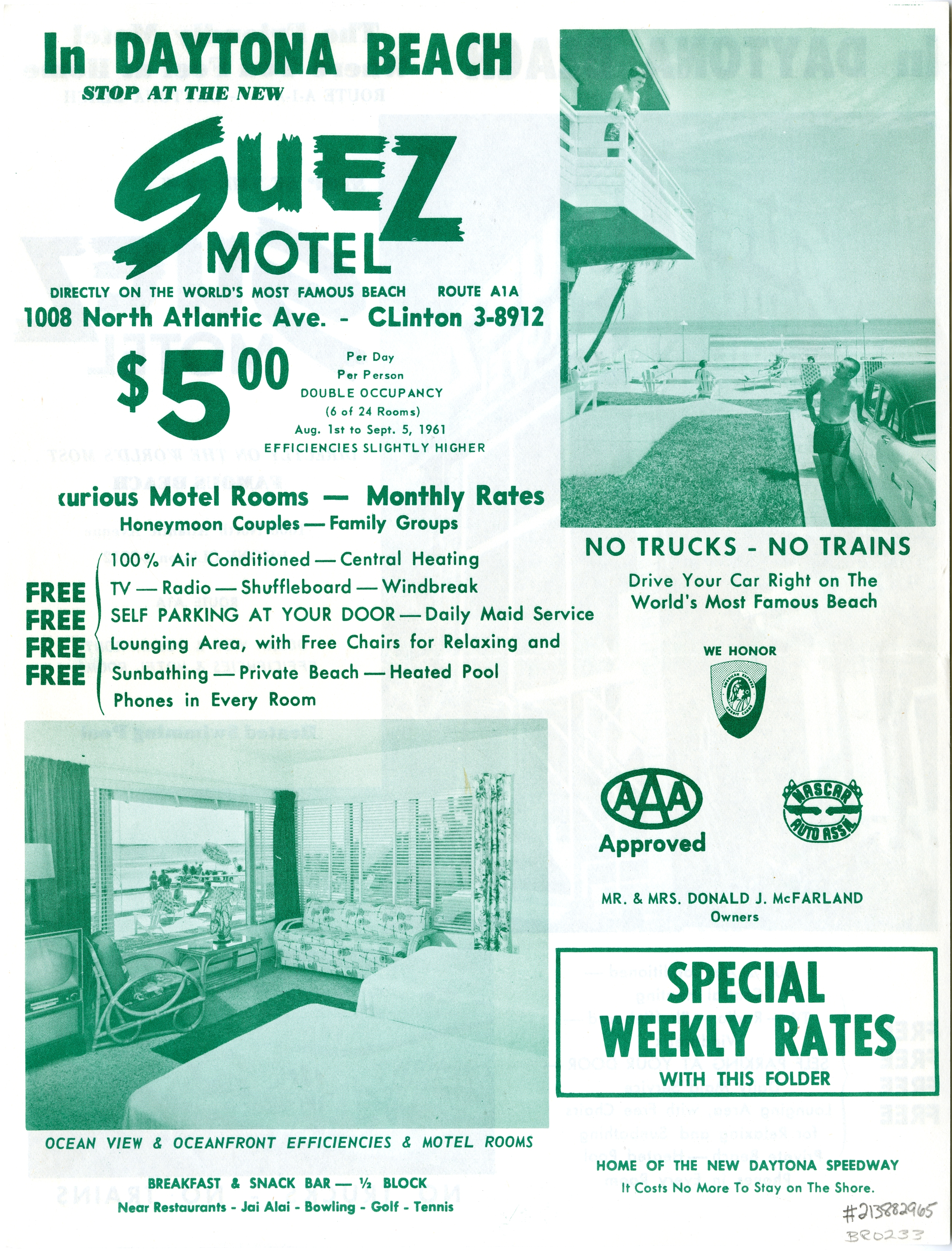 Suez Motel, Daytona Beach, Florida.