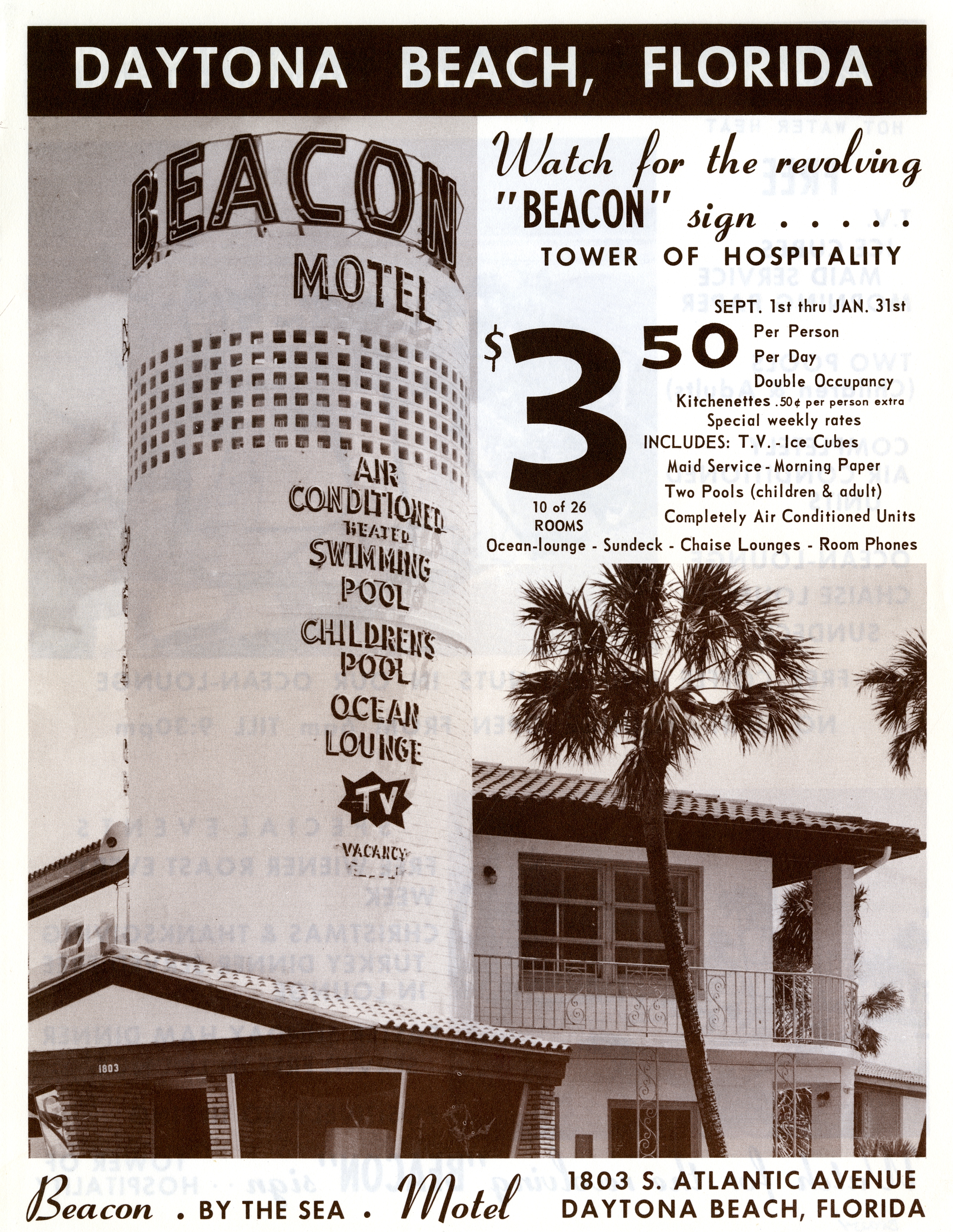 Beacon Motel, Daytona Beach, Florida.