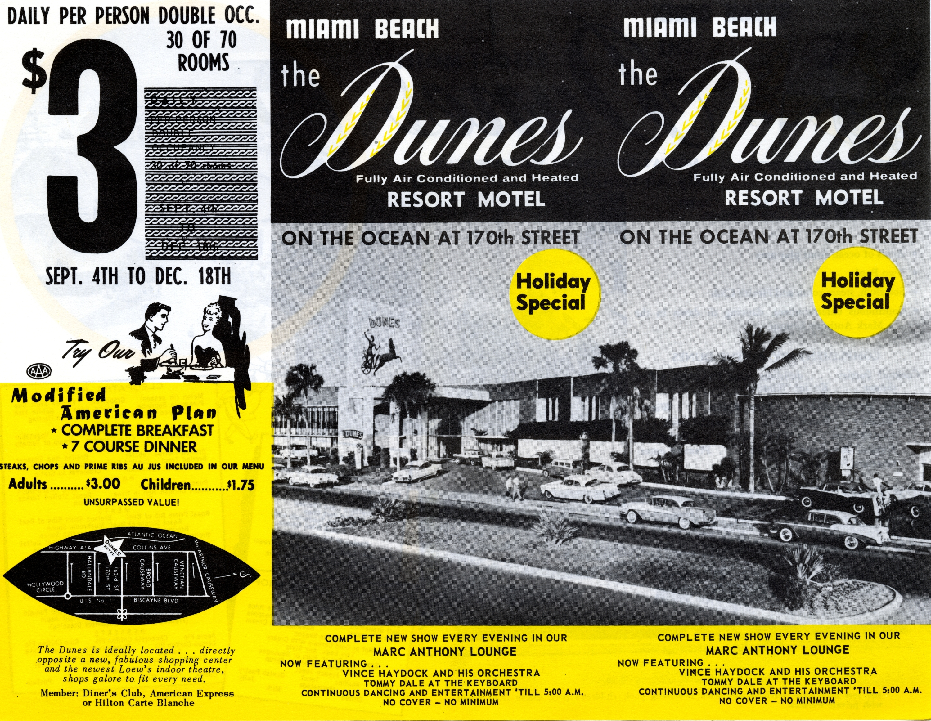 Dunes Resort Motel, Miami Beach, Florida.