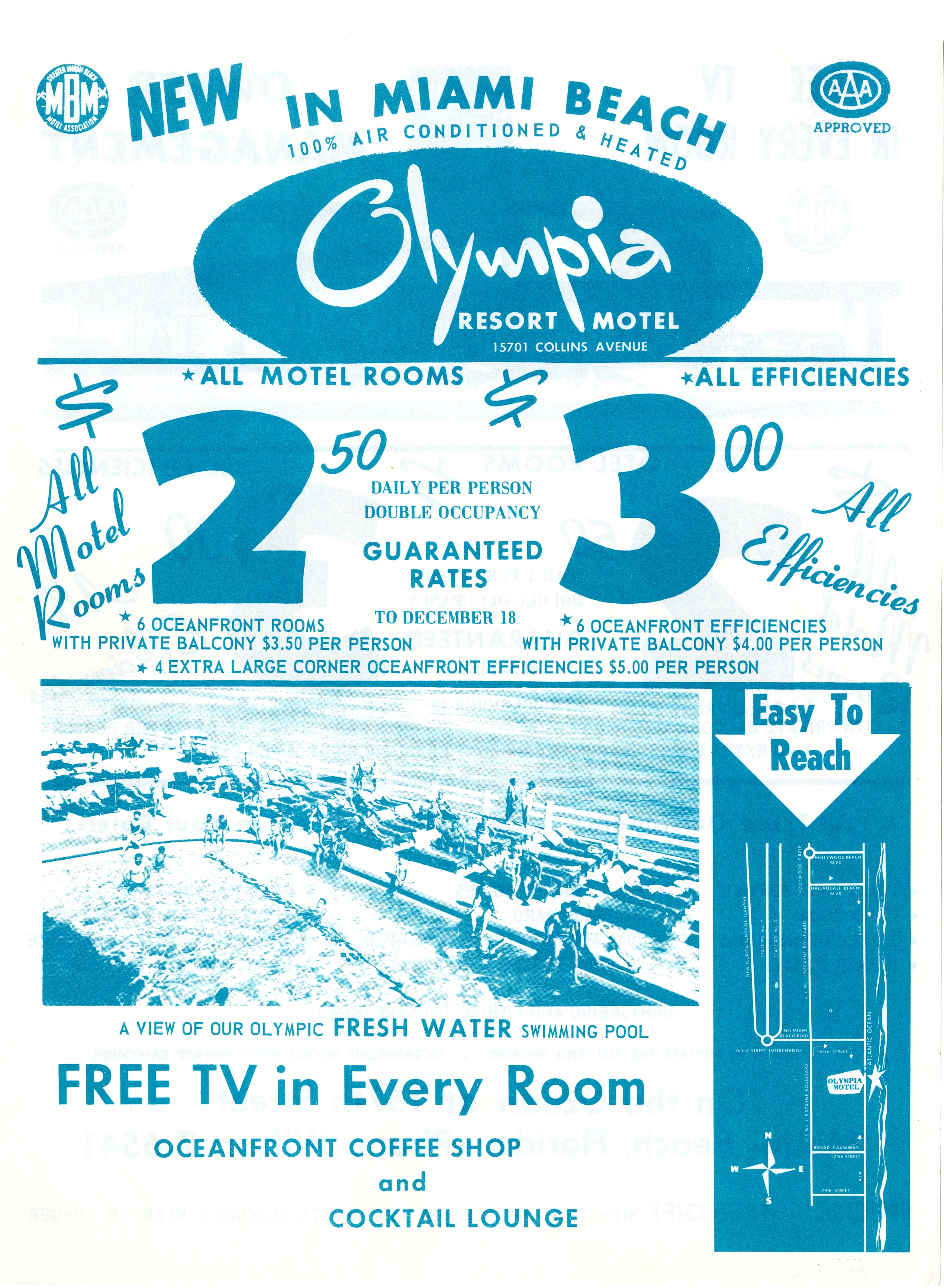 Olympia Resort Motel, Miami Beach, Florida.