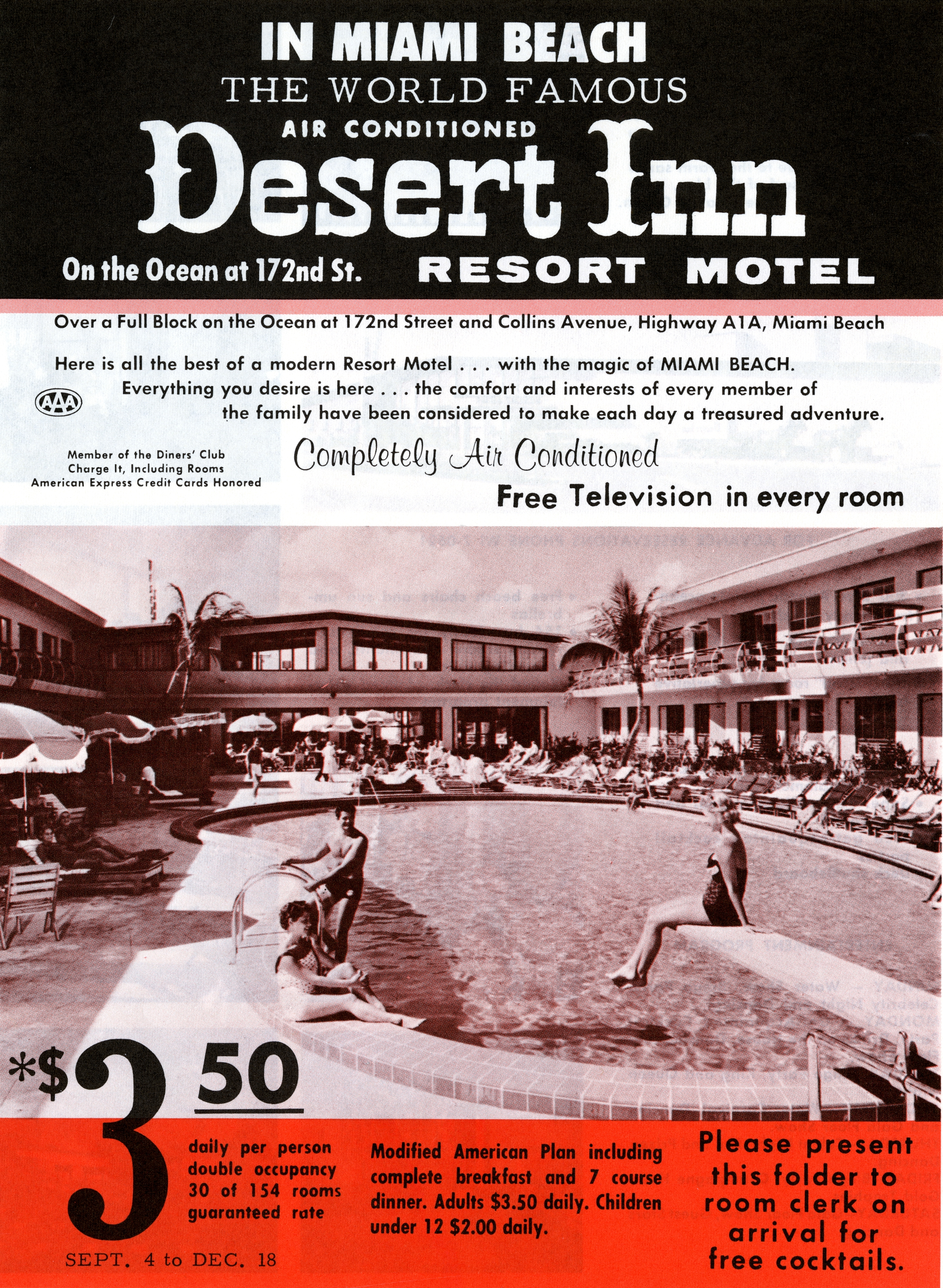 Desert Inn Resort Motel, Miami Beach, Florida.