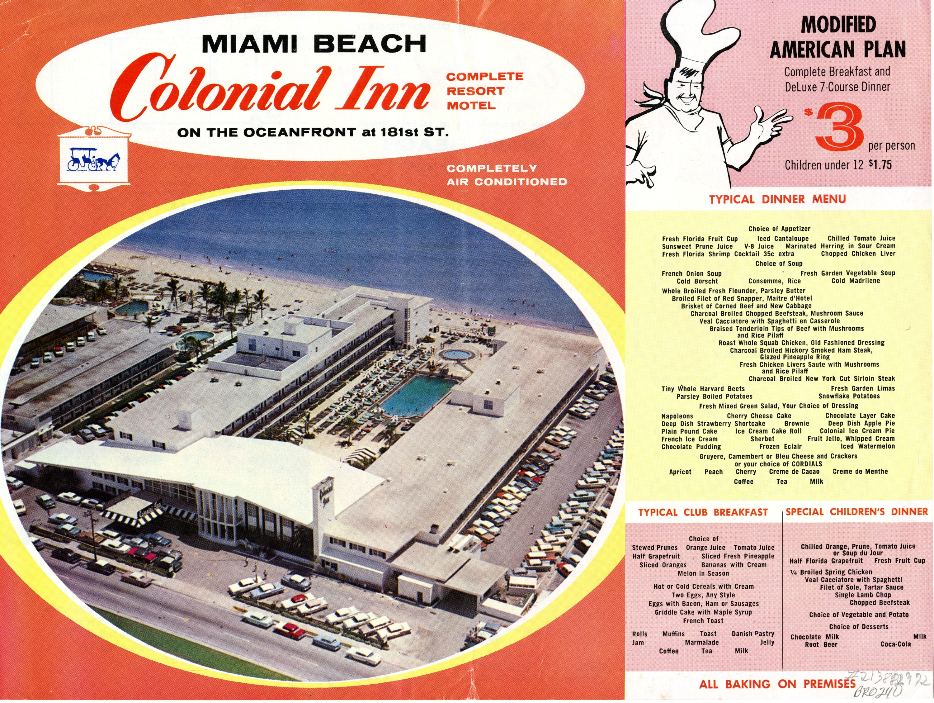 Colonial Inn Resort Motel, Miami Beach, Florida.