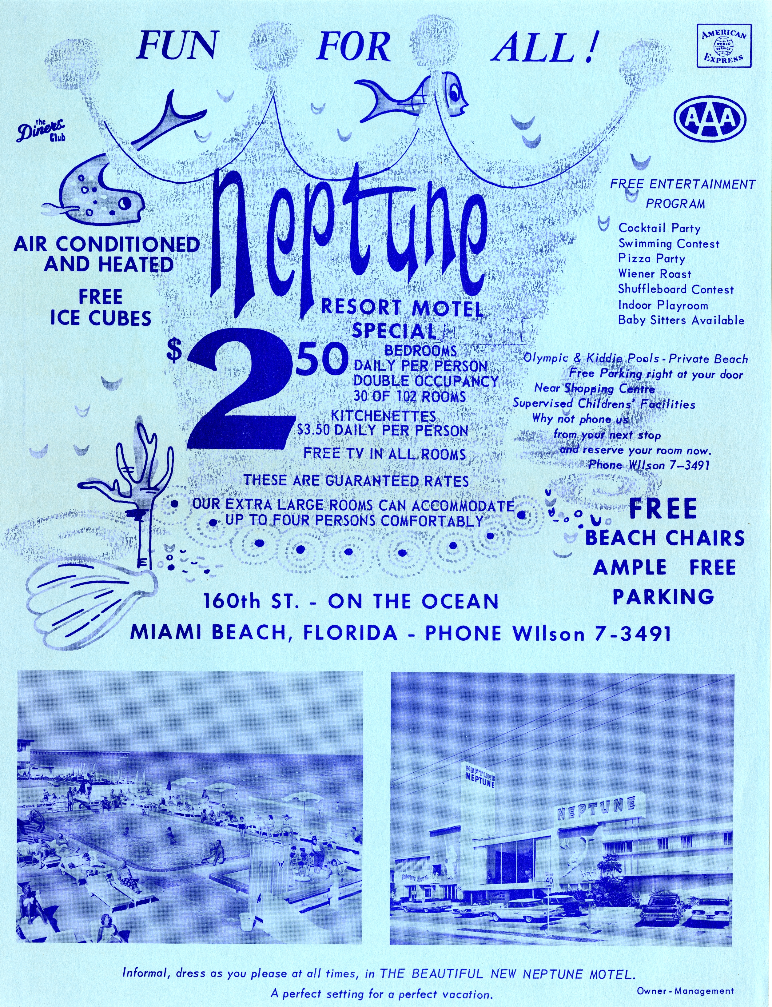 Neptune Resort Motel, Miami Beach, Florida.