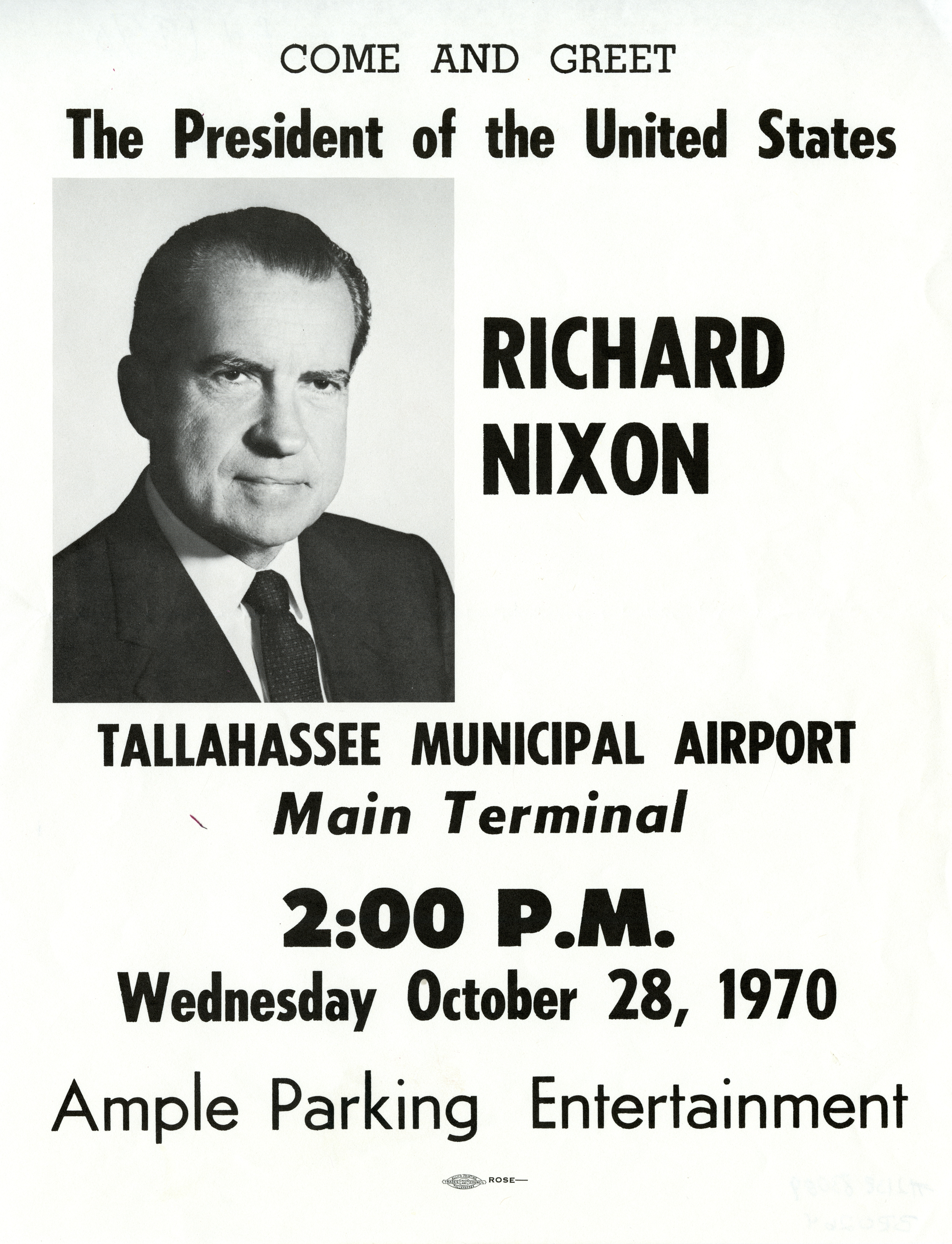 Come and greet The President of the United States Richard Nixon.